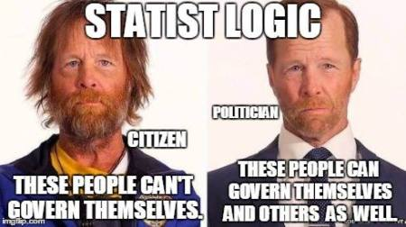 Statist Logic - No Self-Governance Allowed, politician, citizen
