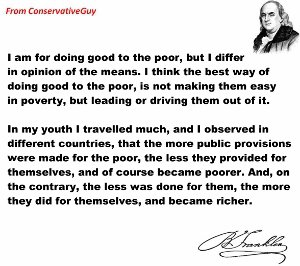 The less public provisions for the poor the richer they were